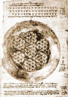 Leonardo da Vinci arbejdede også med Flower of Life motivet.